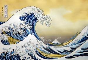 Hokusai - La Grande Vague de Kanagawa - Tableau final