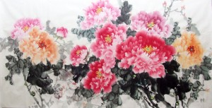 Pivoine en peinture chinoise