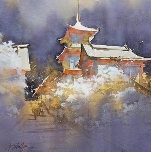 Thomas W Schaller - Kiyomizu sous la neige - Kyoto
