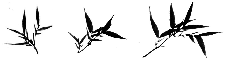 comment peindre les feuilles de bambou couleurs zen. Black Bedroom Furniture Sets. Home Design Ideas