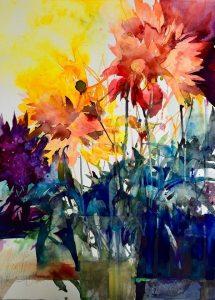 Elke Memmler - Fleur à l'aquarelle 2