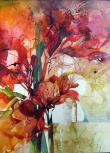 Elke Memmler - Fleur à l'aquarelle 3