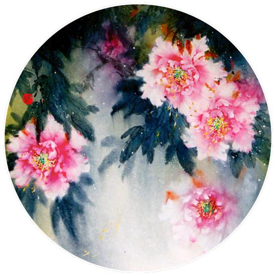 La Pivoine En Peinture Chinoise Couleurs Zen