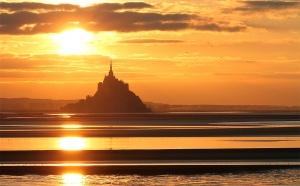Le Mont Saint Michel à marée montante